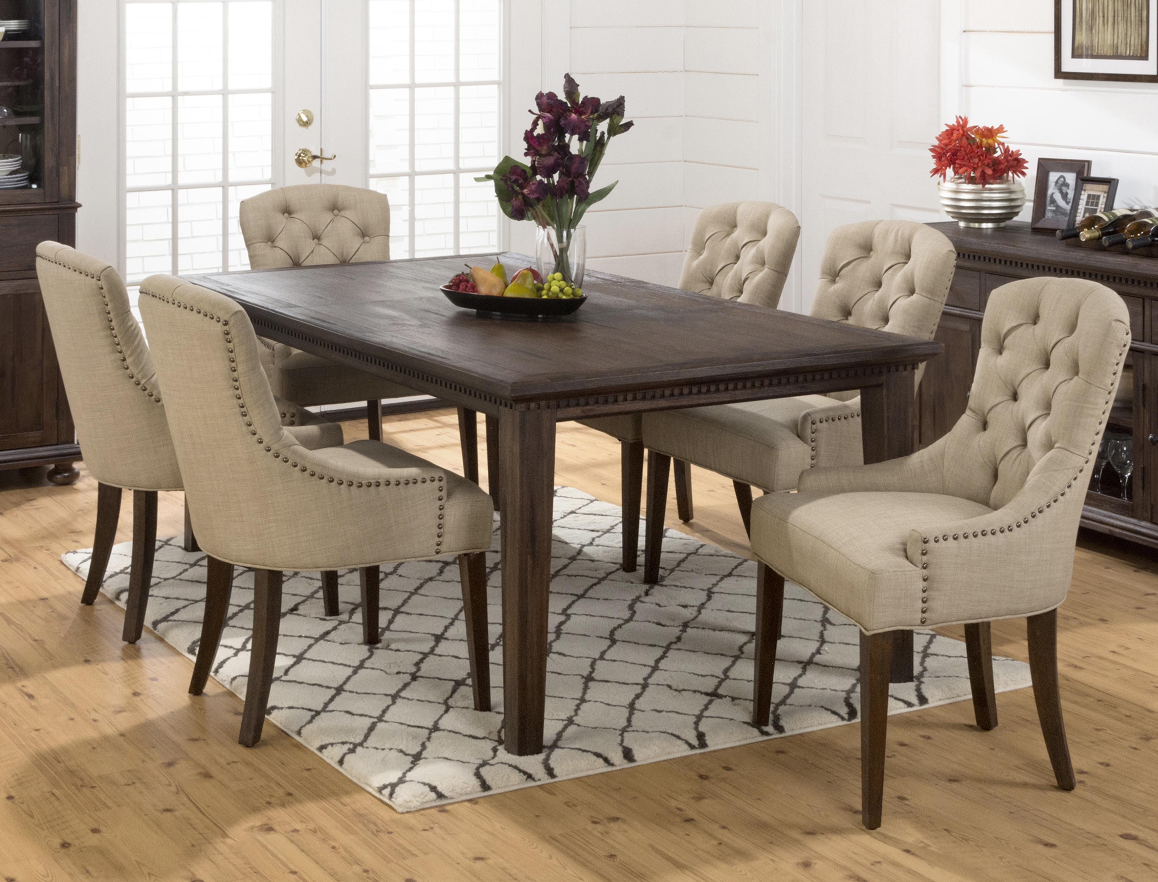 Dining Room Chairs Set Of 4 Geneva Hills Large Table And Upholstered Chair Set By Jofran At Rooms For Less