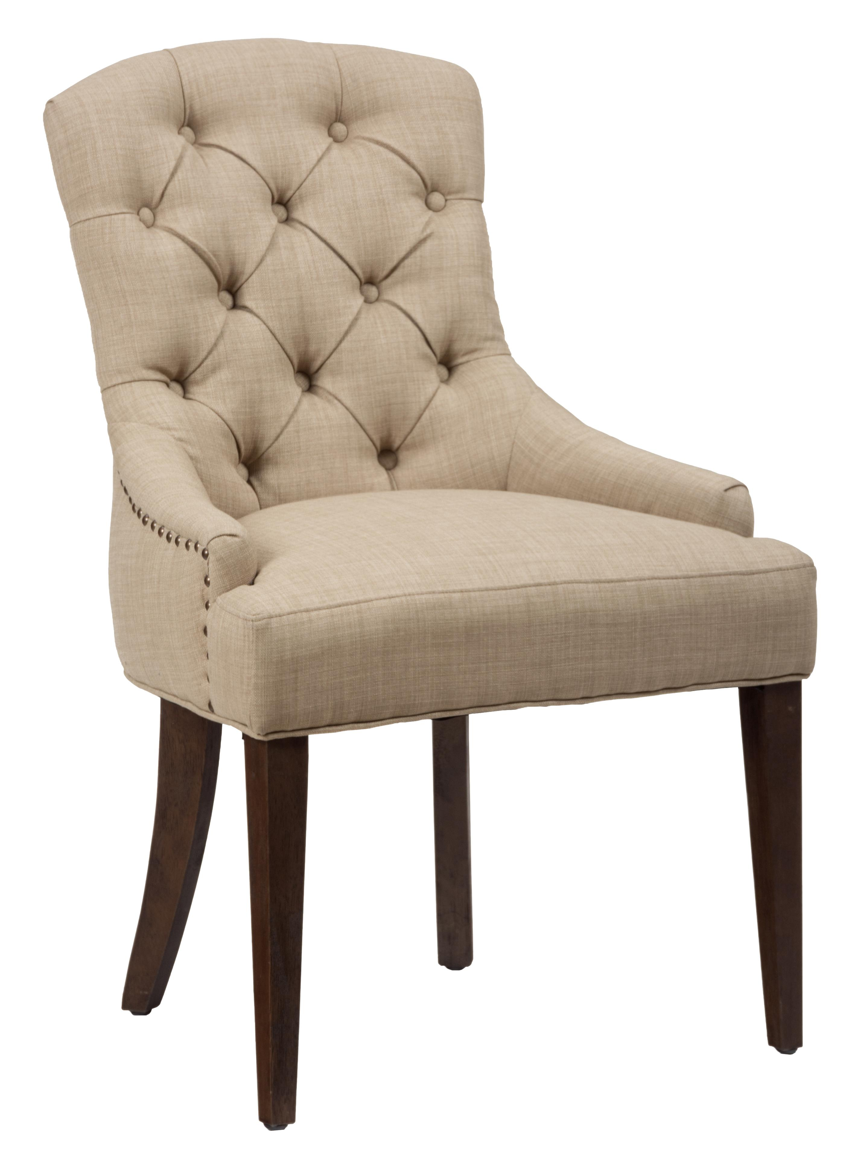 Long Beach Upholstered Side Chair with Tufted Back