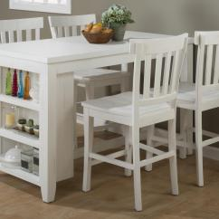 Bar Height Kitchen Table Sets Small Sink Ideas Jofran Island Nook Reclaimed Pine Counter Set With 3