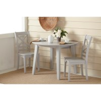 Jofran Simplicity Round Drop Leaf Table and Chair Set ...