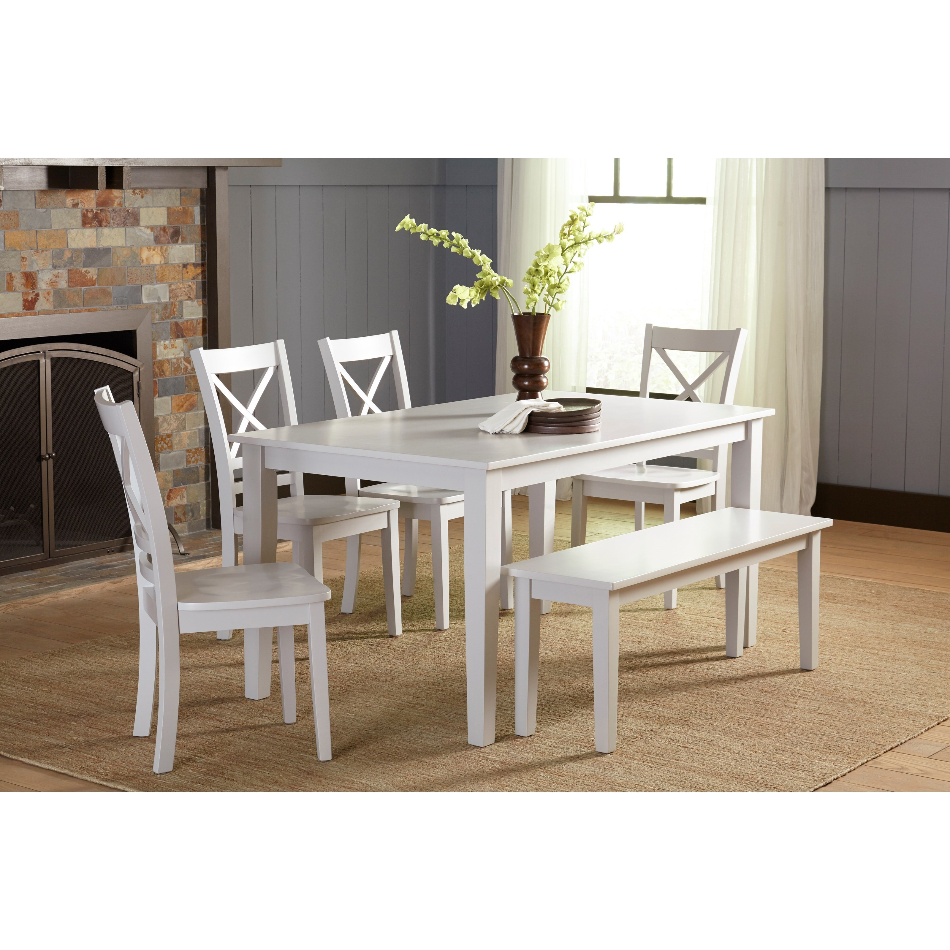 Jofran Simplicity Dining Table and ChairBench Set  Value