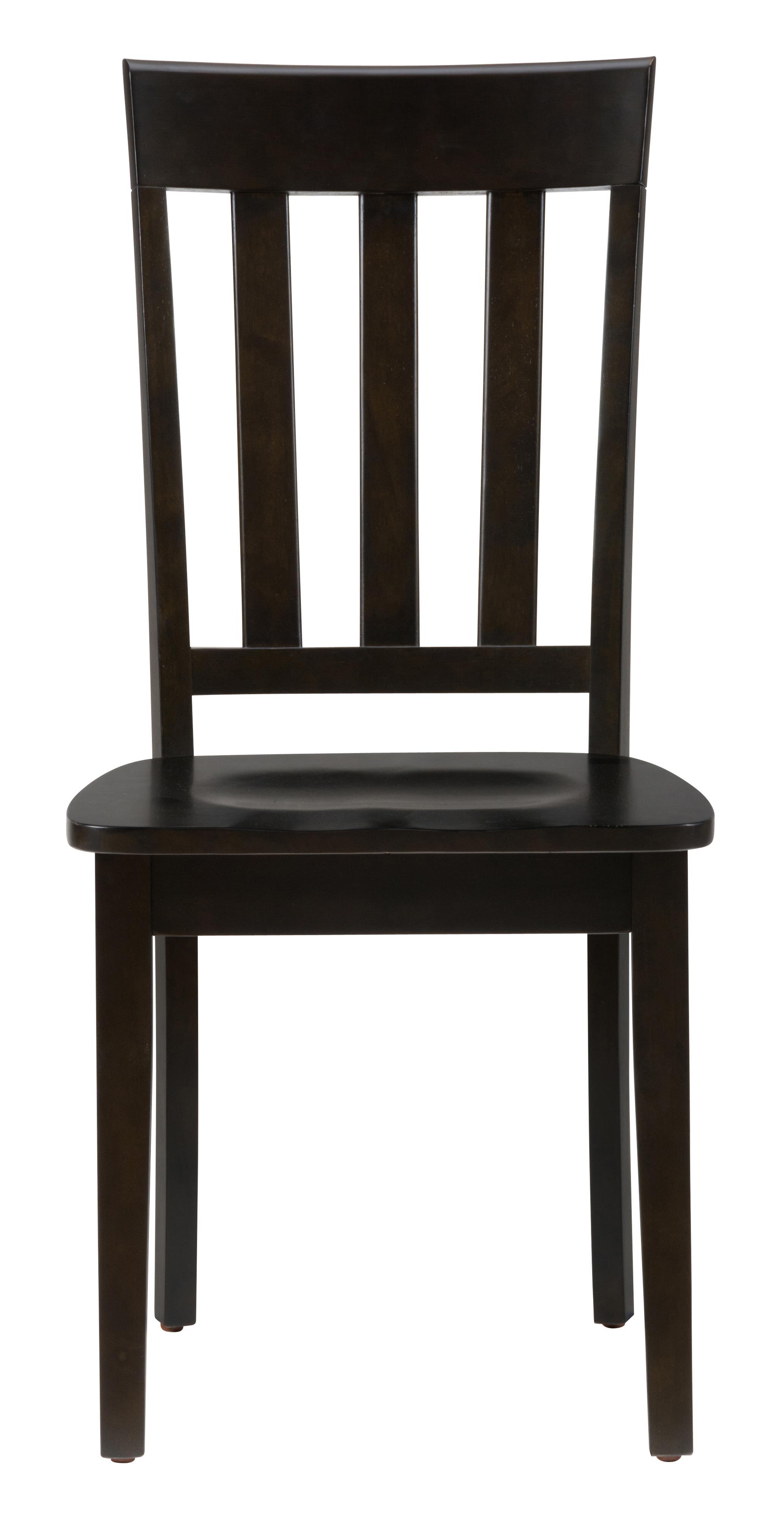 Jofran 3x3x3  Espresso Slat Back Side Chair for Table