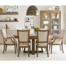 Kincaid Furniture Plank Road Seven Piece Dining Set With