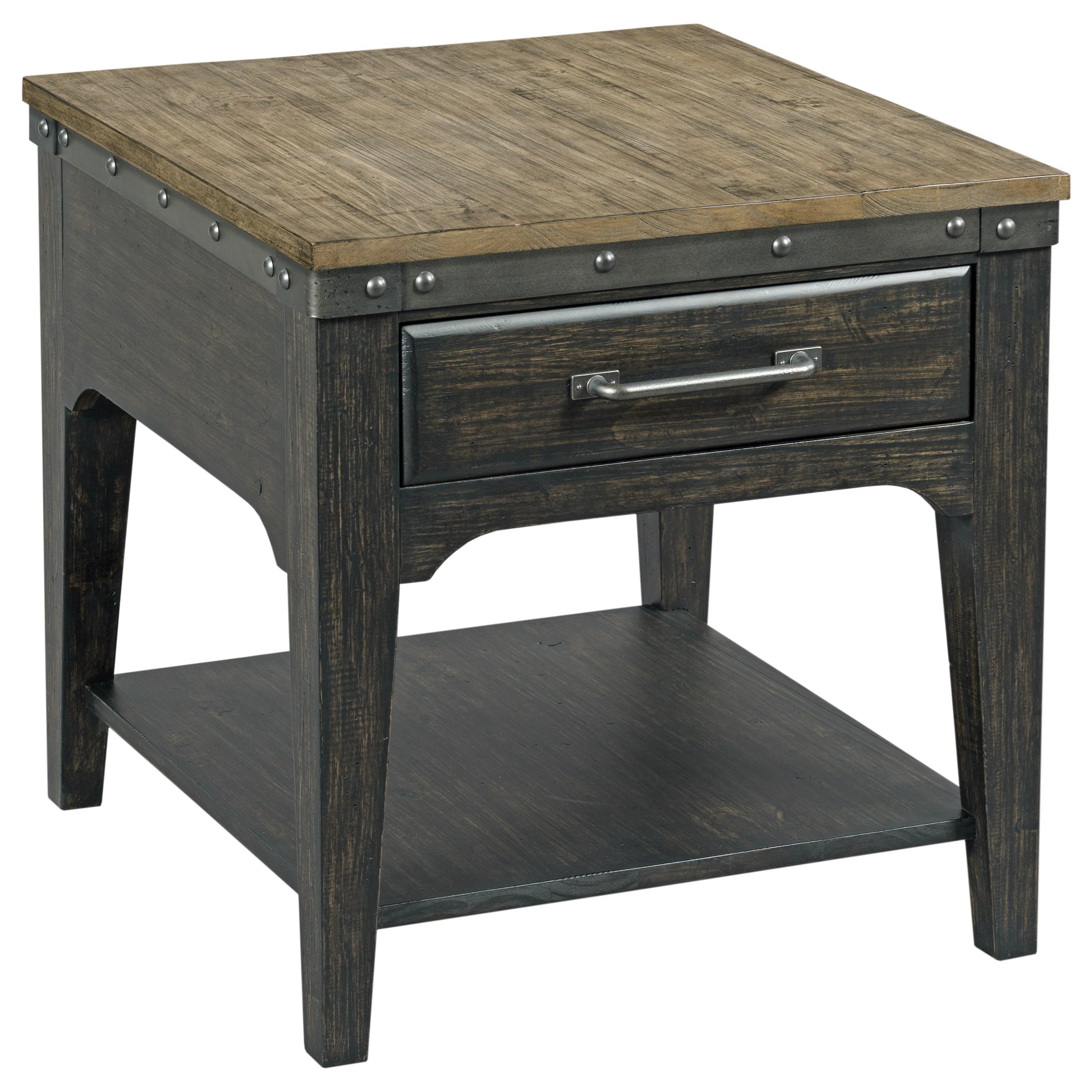 plank road artisans rectangular drawer end table