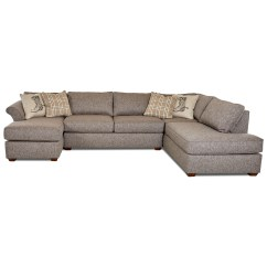 Sectional Sofa Under 2000 Foam Seat Klaussner Jaxon Three Piece With Flared Arms And Raf 3 Pc