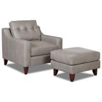Klaussner Audrina Mid Century Modern Chair & Ottoman Set ...