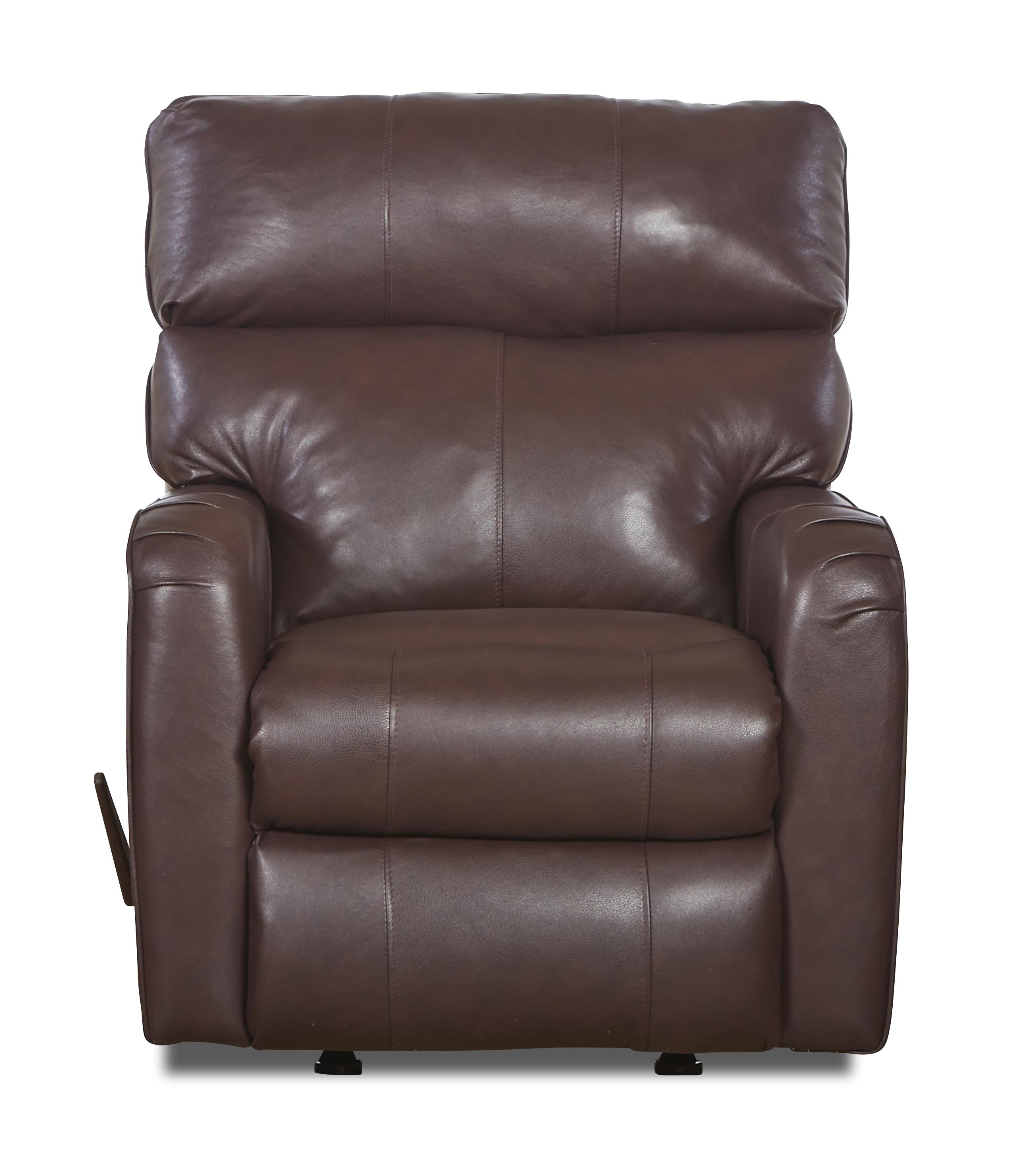 Leather Rocking Chair Axis 25803 Transitional Reclining Rocking Chair By Klaussner At Northeast Factory Direct