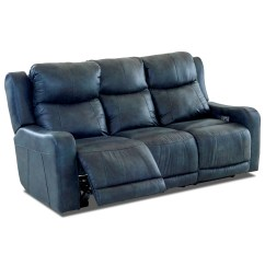 Two Cushion Power Reclining Sofa Single Bed Klaussner Barnett With ...