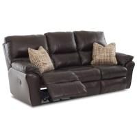 Klaussner Bateman Casual Power Reclining Sofa with 2 ...