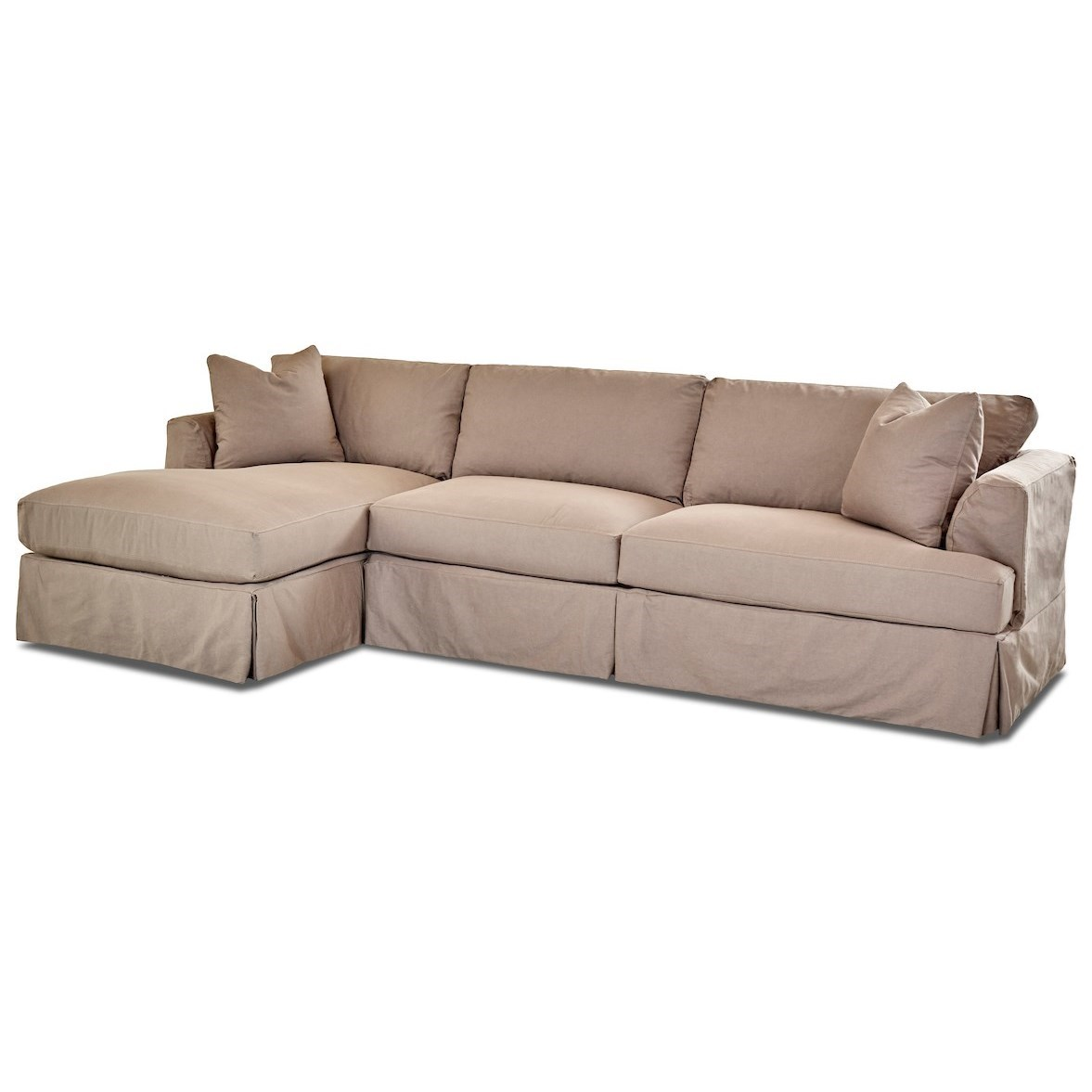 Bentley 3 Seat Chaise Sofa Sectional W Laf Chaise