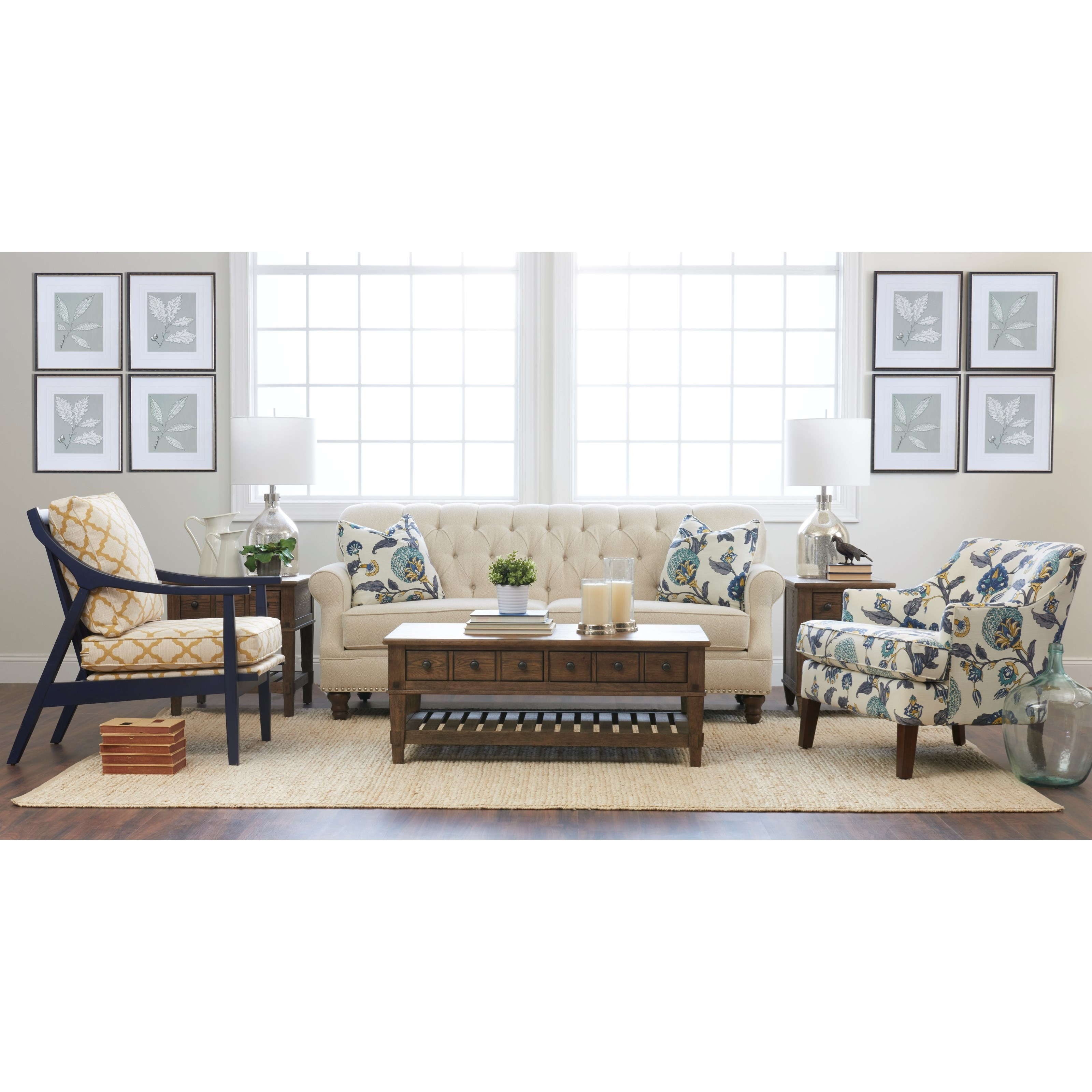 Klaussner Burbank K96810 S Traditional Tufted Apartment