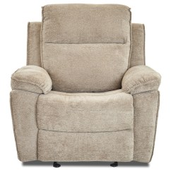 Klaussner Rocking Chair Office Back Support Cushion Uk Castaway Casual Reclining With Bucket Seat And Pillow Arms