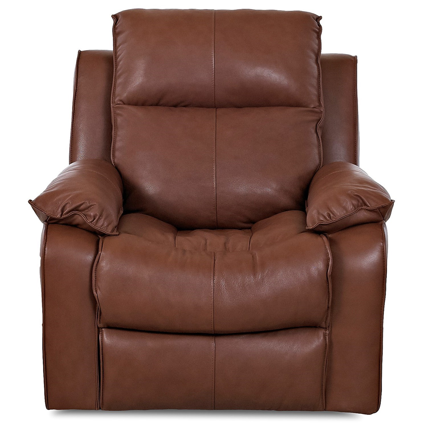 Leather Rocking Chair Castaway Casual Reclining Rocking Chair With Bucket Seat And Pillow Arms By Klaussner At Value City Furniture