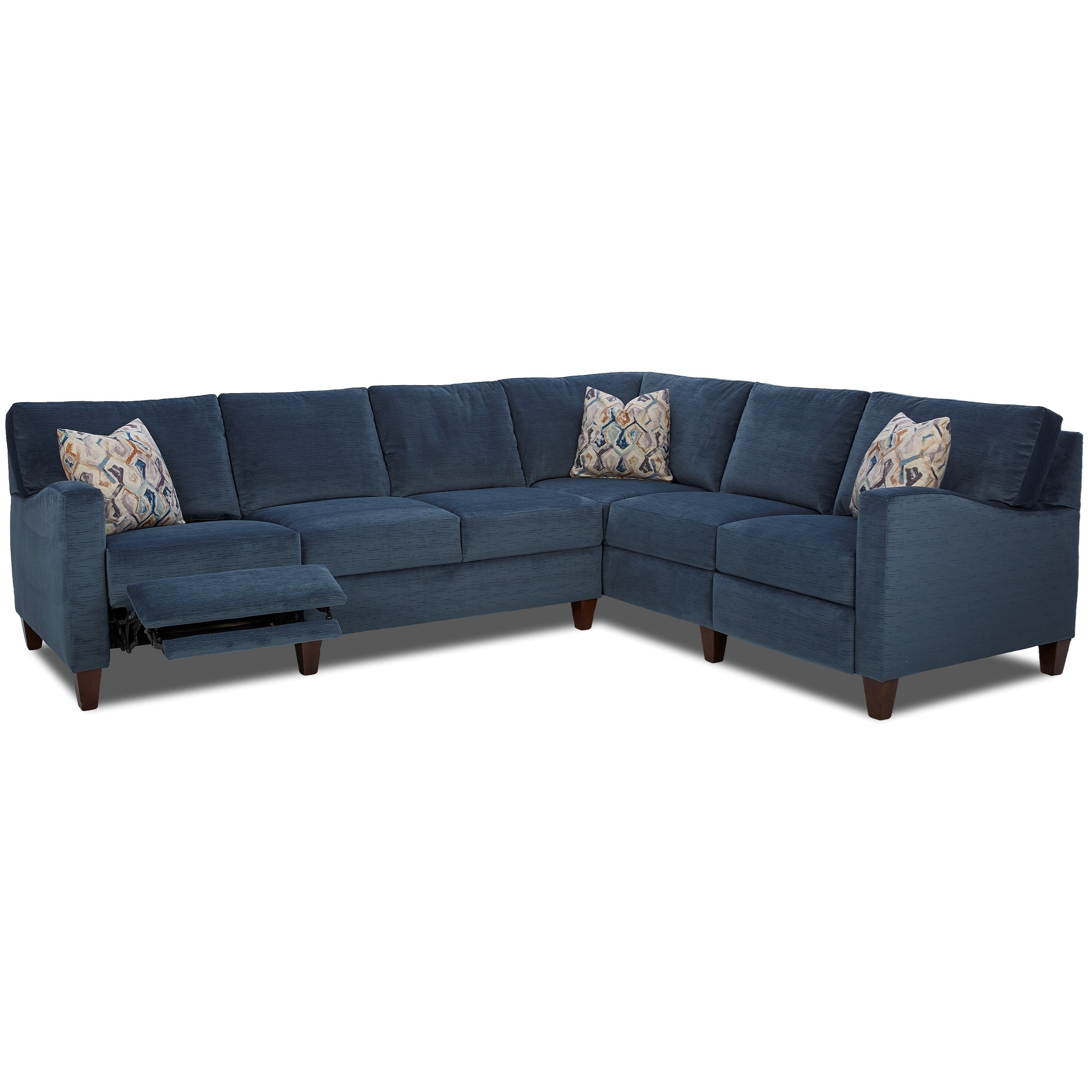 Klaussner Colleen Hybrid Reclining Sectional with RAF