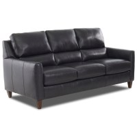Klaussner Cortland LOT95700 S Contemporary Leather Sofa ...