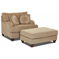 Klaussner Declan Oversized Chair and Ottoman Set | Royal ...