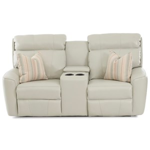 klaussner grand power reclining sofa bed costco uk wayside furniture akron cleveland canton medina casual loveseat with cupholder storage console and pillows traditional sectional