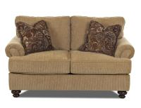 Klaussner Greenvale Traditional Loveseat with Rolled Arms ...