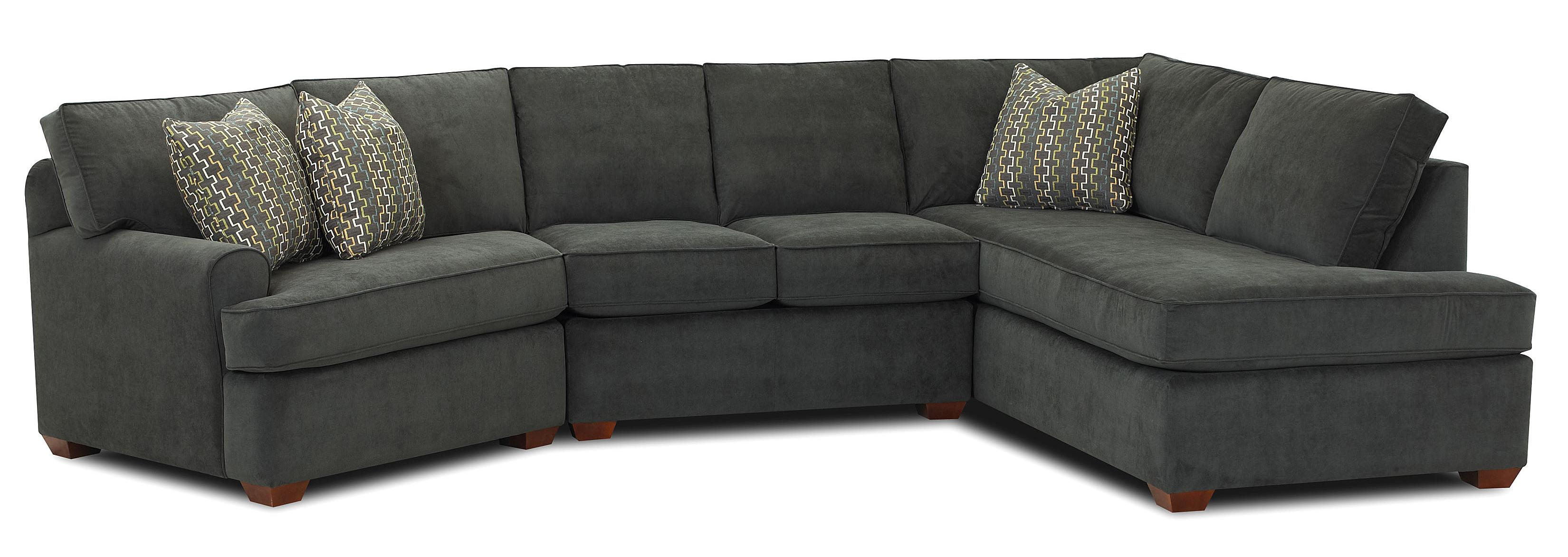 sofa w chaise white t cushion slipcover klaussner hybrid sectional with right facing dunk