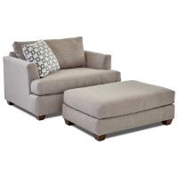 Klaussner Jack Big Chair and Ottoman Set   Dunk & Bright ...