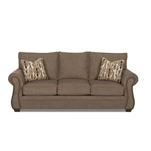 traditional sofa sleeper dog friendly sectional sofas klaussner jasper queen inner spring with air coil mattress