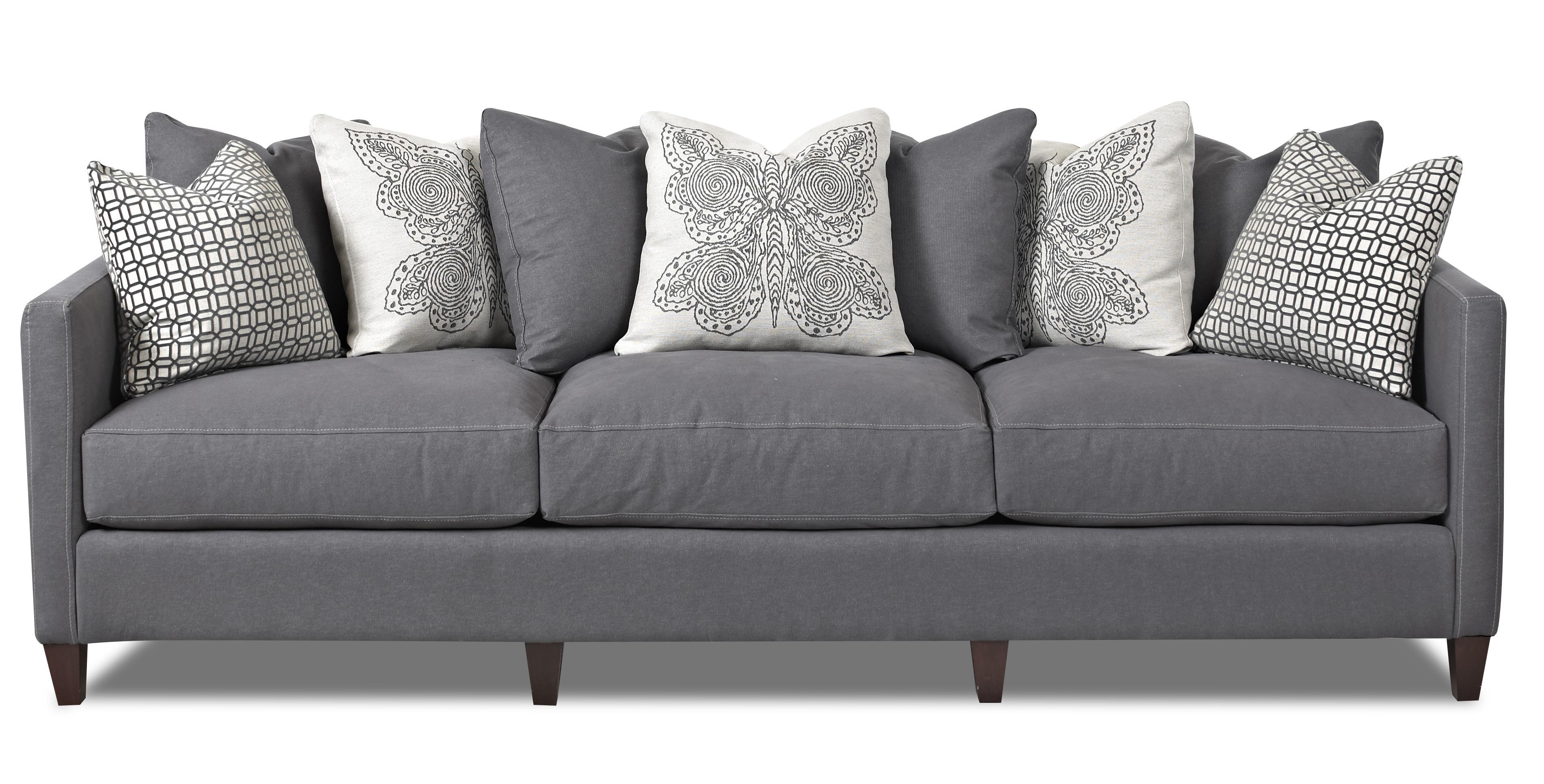 Klaussner Jordan Large 3 Cushion Tuxedo Arm Sofa with