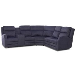 Klaussner Grand Power Reclining Sofa Most Comfortable Bed Perth Barnett Three Pc Sectional With Four Seat Cupholder Storage Console And Usb Charging Ports