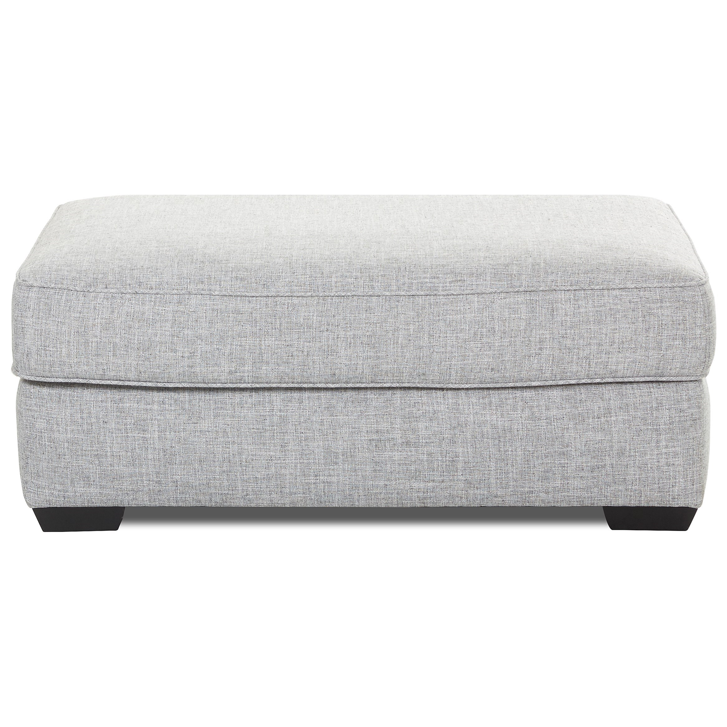 Klaussner Kearns Contemporary Ottoman With Down Blend