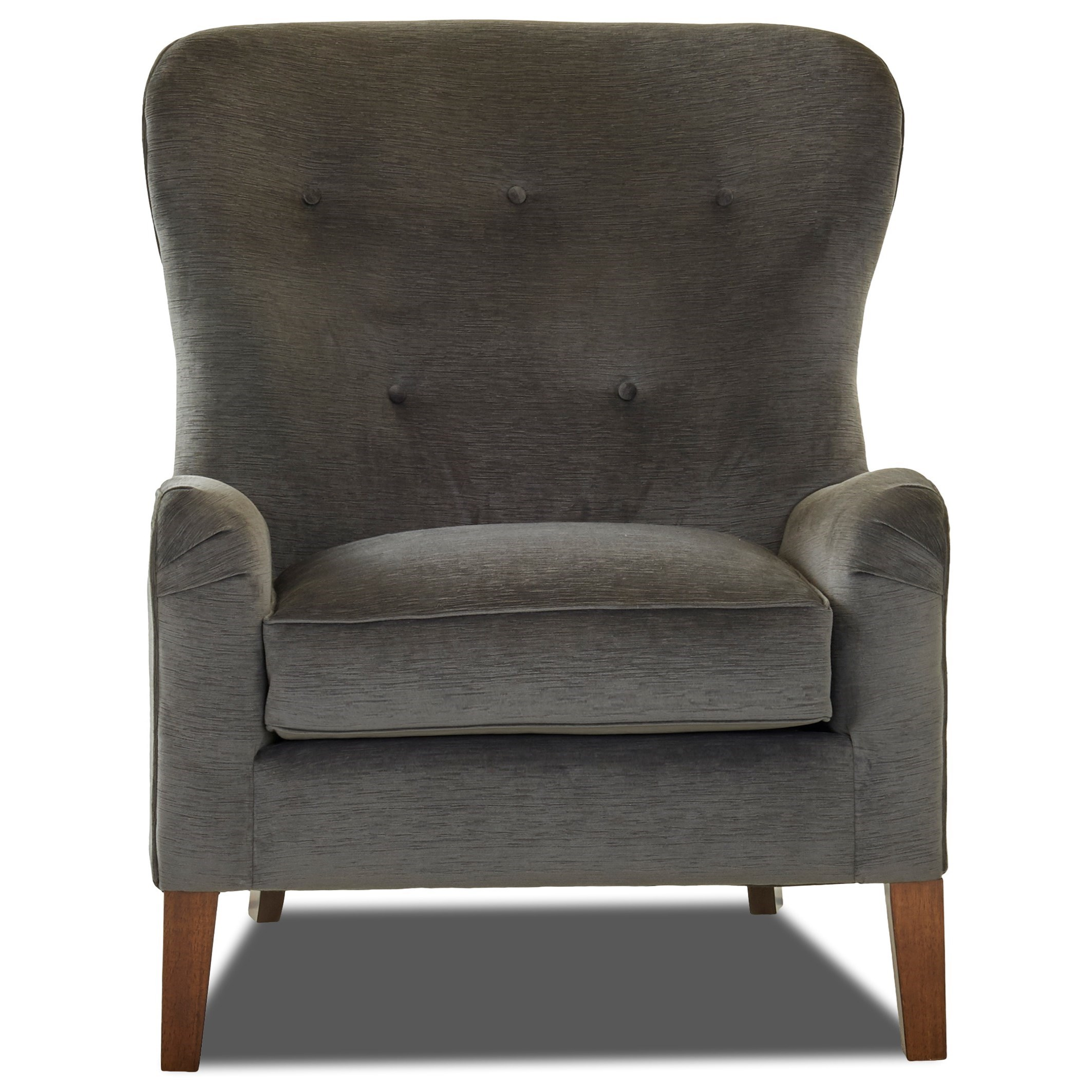 Wingback Tufted Chair Chairs And Accents Annabel Wing Back Chair With Button Tufting By Klaussner At Novello Home Furnishings