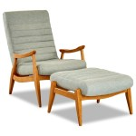 Klaussner Chairs And Accents Hans Mid Century Modern Chair And Ottoman With Exposed Wood Frame Value City Furniture Chair Ottoman Sets