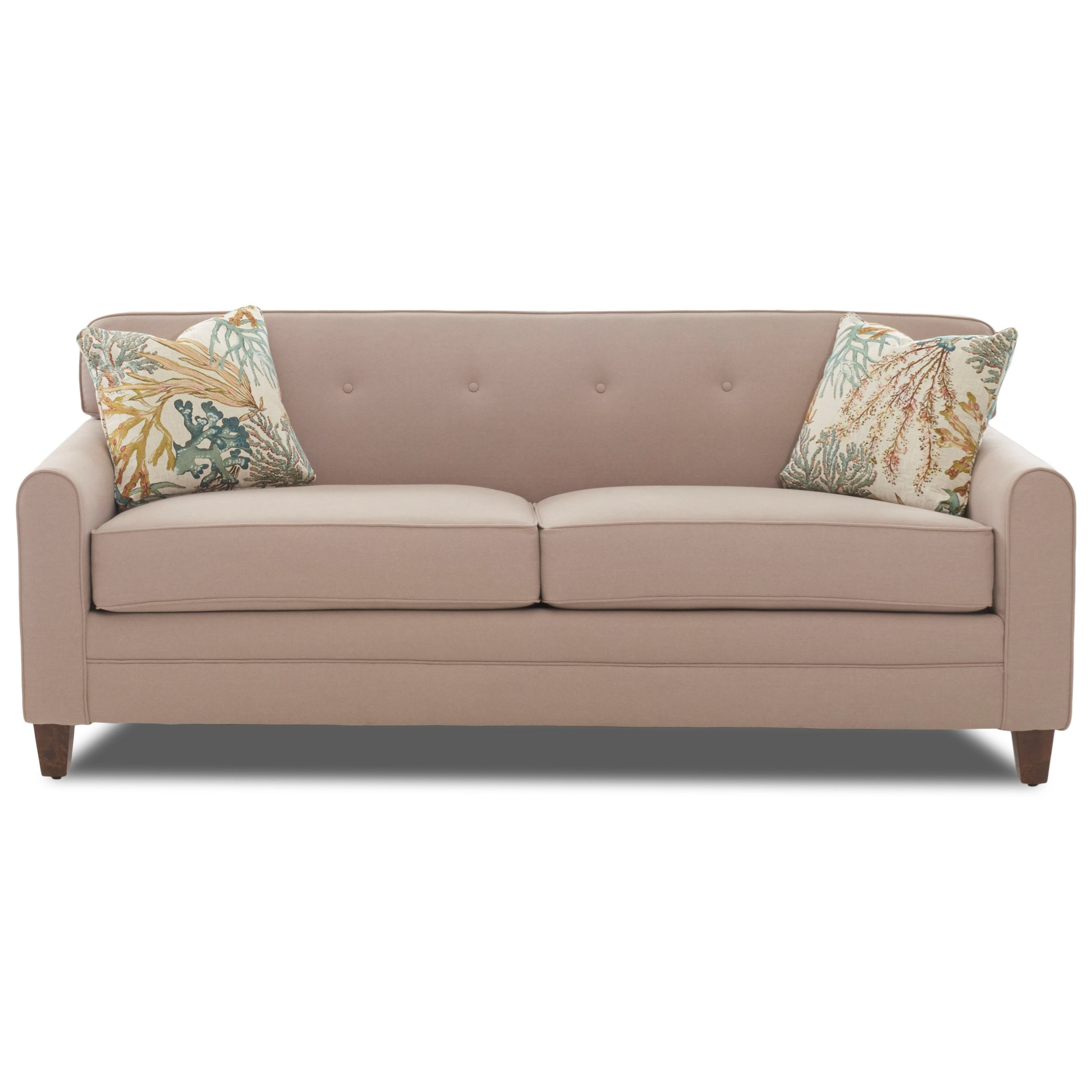 Klaussner Peyton Mid Century Modern Sleeper Sofa With