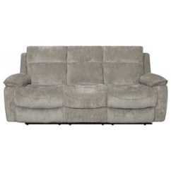 Futura Leather And Vinyl Power Reclining Sofa With Headrest In Stone Mitc Gold Sofas Homeworld Furniture