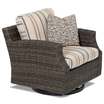 Klaussner Outdoor Cascade Swivel Glider Chair With