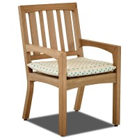 Klaussner Outdoor Delray 2 Pack Outdoor Dining Arm Chair ...