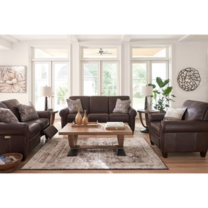 lazy boy living room colour schemes for rooms with brown leather sofa la z bennett reclining group s home