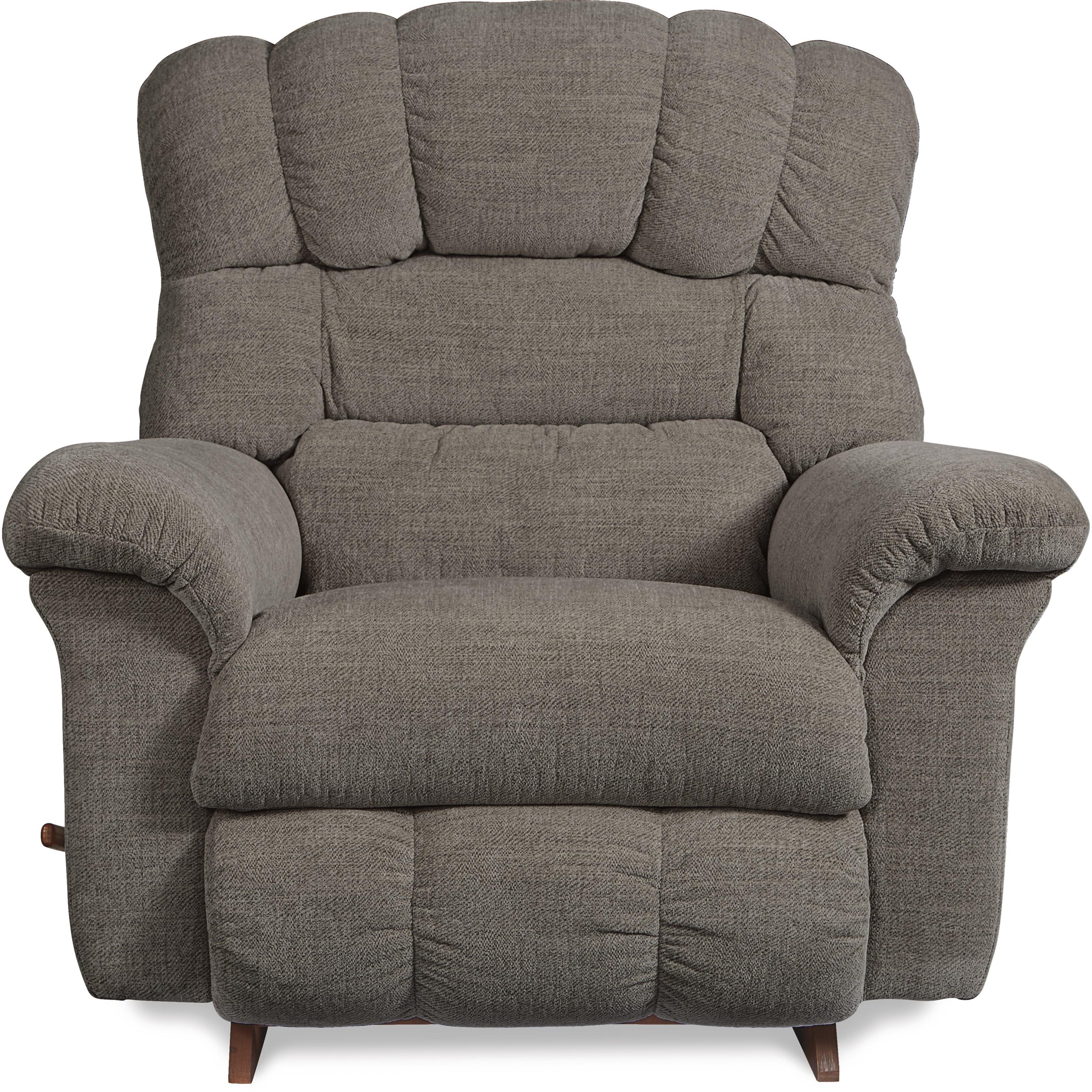 rocker and recliner chair blue velvet accent la z boy crandell reclina reclining vandrie home by