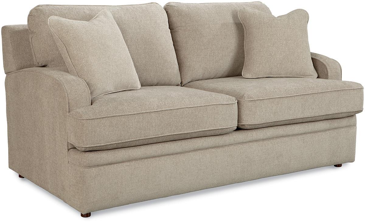broyhill floral sofa how to clean restoration hardware linen la-z-boy diana transitional supreme-comfort™ full sleep ...