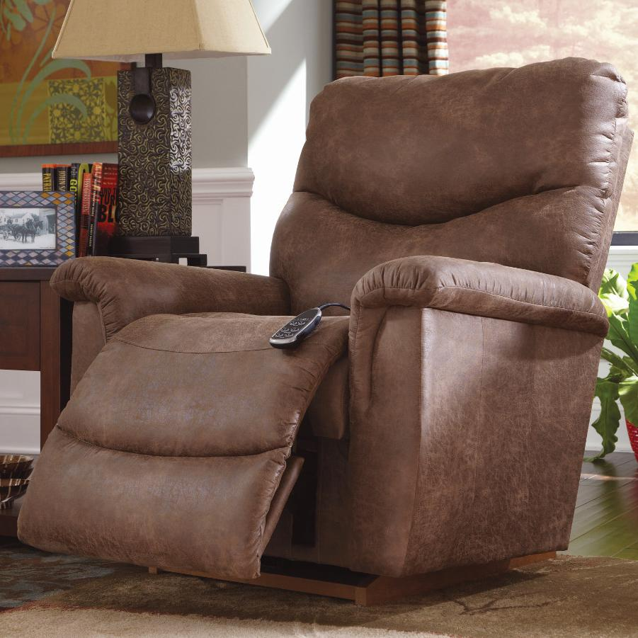 lazy boy recliner chair colorful wooden chairs la z james casual power recline xr reclina rocker