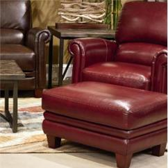 Red Leather Chair And Ottoman Target Club Covers La Z Boy Jake Casual Conlin S Furniture Set With Bustle Back Rolled Arms