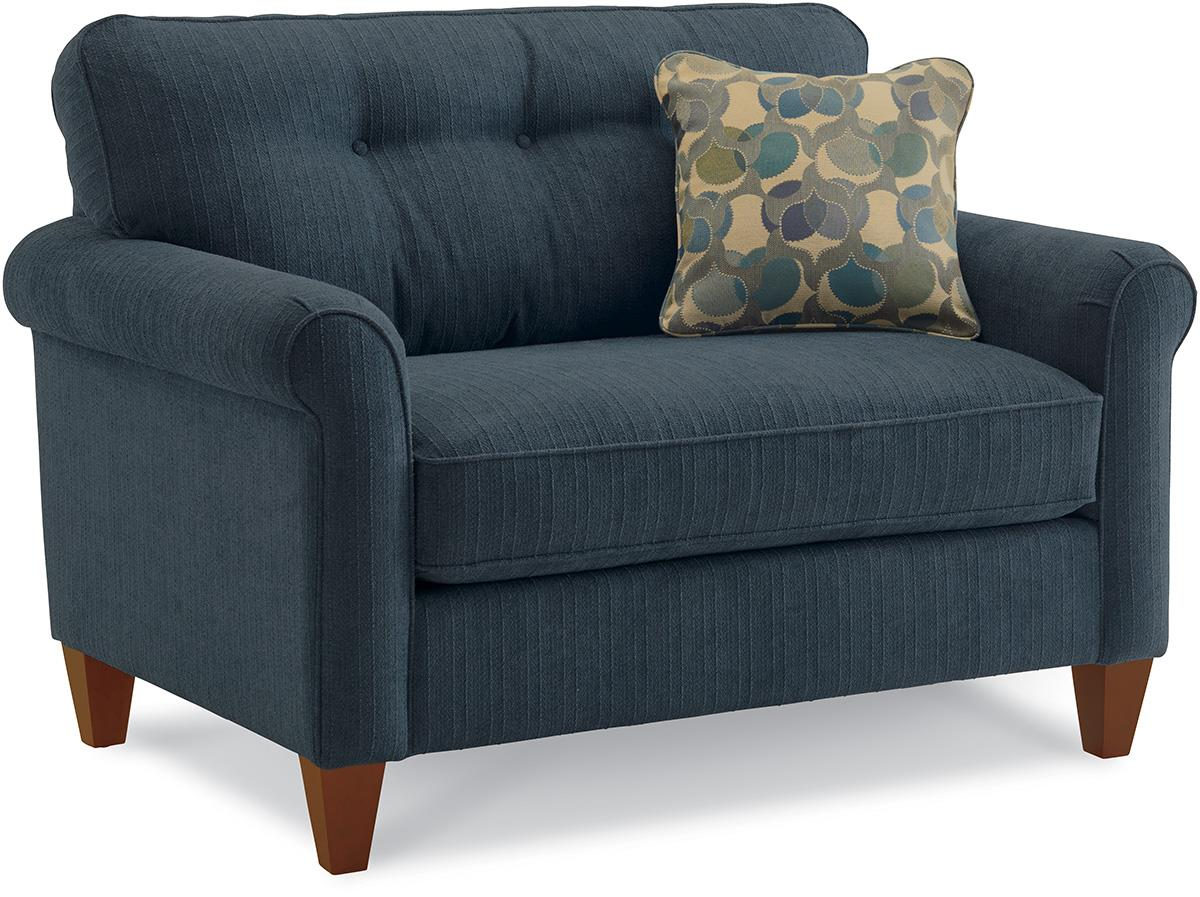 broyhill floral sofa contemporary sets living room la-z-boy laurel rolled arm chair-and-a-half   conlin's ...