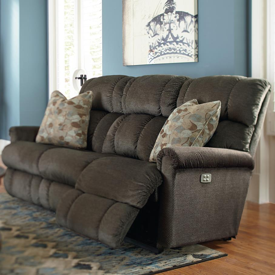 gray microfiber power reclining sofa sets cheap uk la-z-boy pinnacle power-recline-xrw? full ...