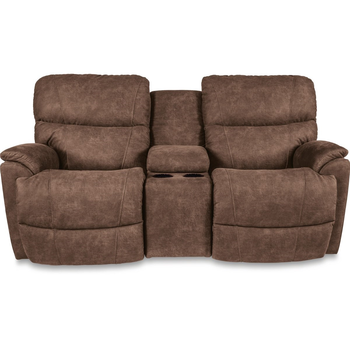LaZBoy Trouper Power Console Reclining Loveseat with