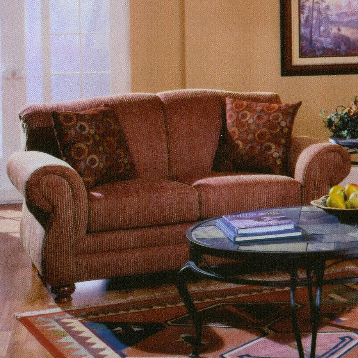 Lancer 32 Traditional Loveseat With Rolled Arms Wayside