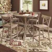 Largo Callista Rustic Casual Counter Height Dining Table ...