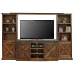 Legends Furniture Farmhouse Collection Farmhouse Style Entertainment Wall Unit With Sliding Doors Furniture Superstore Rochester Mn Wall Unit