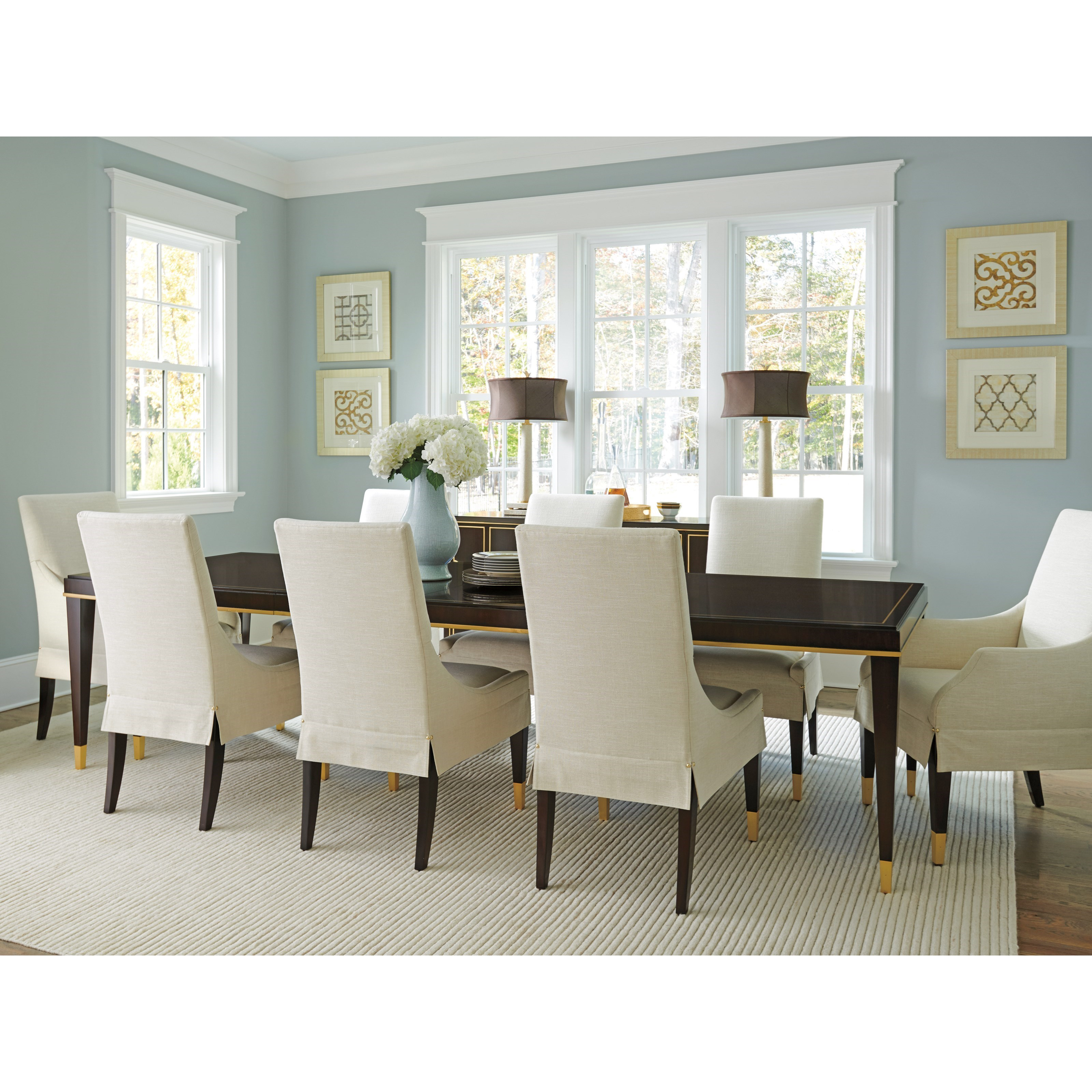 Lexington Carlyle Transitional 9 Piece Dining Set With