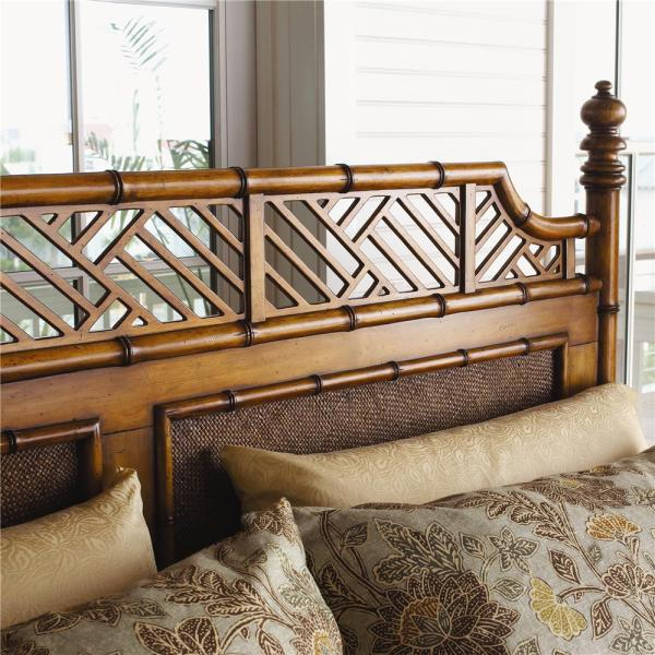 Tommy Bahama Home Island Estate 531-163c Queen-size West Indies Canopy Bed Baer' Furniture