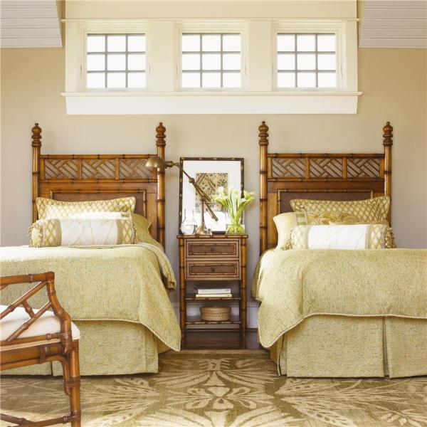 Tommy Bahama Home Island Estate 531-622 Ginger Bedside Chest With Woven Accents Baer'