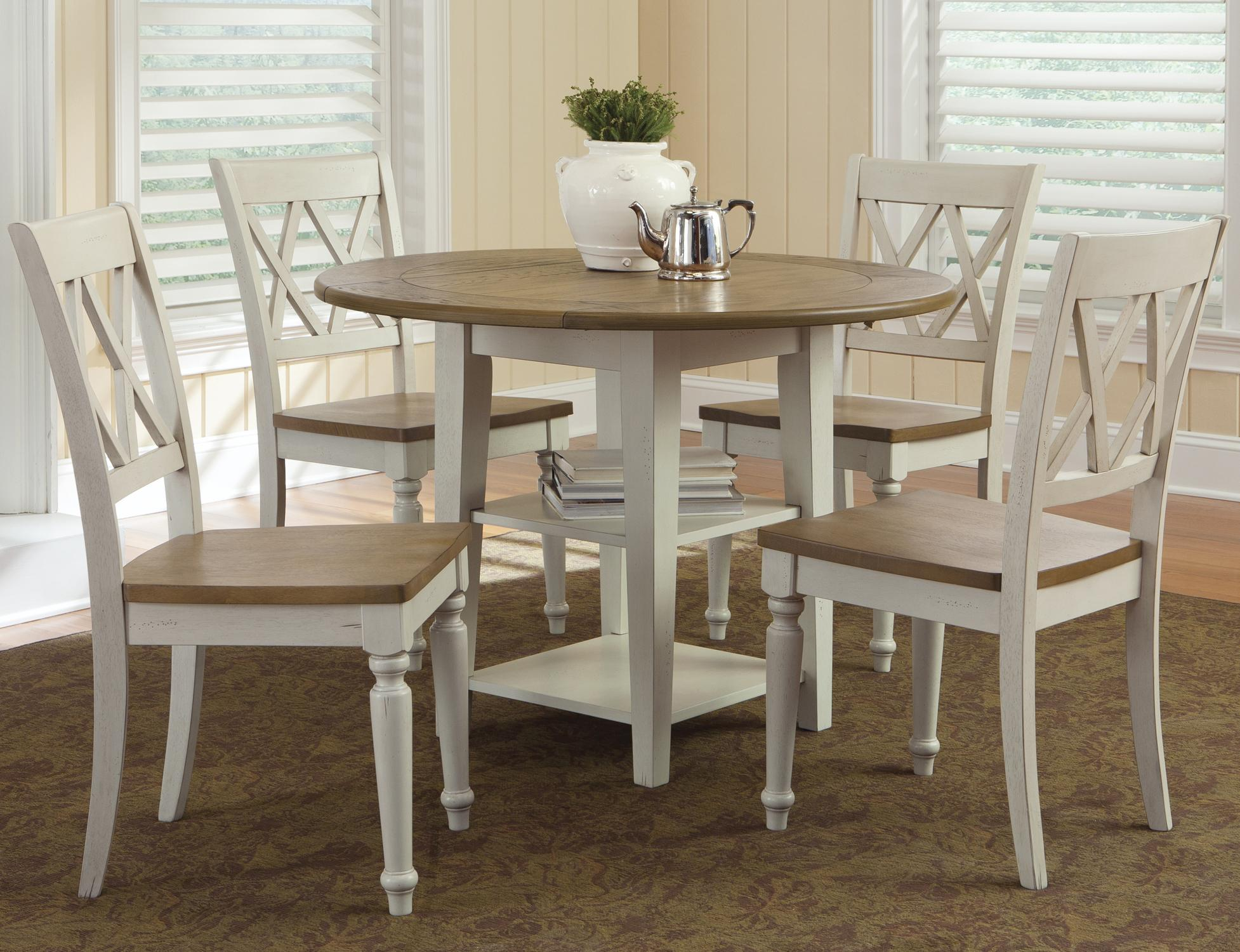 drop leaf kitchen table and chairs aeron chair cylinder replacement liberty furniture al fresco iii five piece 5 set
