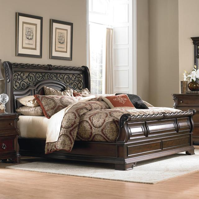 Liberty Furniture Arbor Place King Traditional Sleigh Bed Great